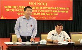 Hội nghị quán triệt một số chỉ thị văn bản mới của Đảng