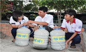 Hệ thống lọc khí biogas của một học sinh dân tộc Khmer