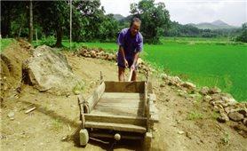 Ông già mù làm đường cho trẻ đi học