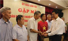 Ủy ban Dân tộc: Gặp mặt Đoàn đại biểu Người có uy tín trong đồng bào DTTS tỉnh Hòa Bình