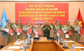 Thêm 7 sĩ quan Việt Nam tham gia lực lượng gìn giữ hòa bình Liên hợp quốc
