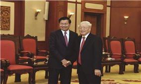 Tổng Bí thư, Chủ tịch nước Nguyễn Phú Trọng tiếp Thủ tướng Lào