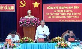 Phó Thủ tướng Thường trực Chính phủ Trương Hòa Bình thăm và làm việc tại Cà Mau