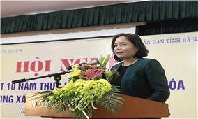 Hội nghị Tổng kết 10 năm thực hiện tiêu chí văn hóa trong xây dựng nông thôn mới