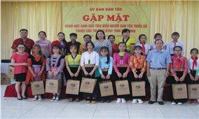 Ủy ban Dân tộc: Gặp mặt các em học sinh tiêu biểu người DTTS tỉnh Hòa Bình
