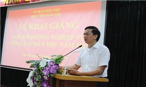 Ủy ban Dân tộc: Bồi dưỡng nghiệp vụ công tác dân tộc cho lãnh đạo cấp Vụ và tương đương