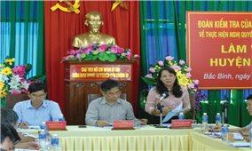Ban Chỉ đạo Trung ương: Kiểm tra tình hình thực hiện Nghị quyết 24-NQ/TW và Chỉ thị 45-CT/TW tại Bình Thuận