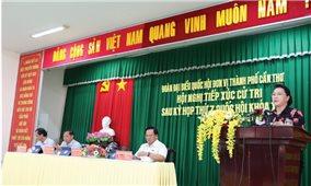 Chủ tịch Quốc hội Nguyễn Thị Kim Ngân tiếp xúc cử tri tại quận Cái Răng, TP. Cần Thơ