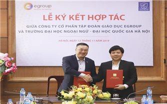 Tập đoàn Giáo dục Egroup ký kết hợp tác với Trường Đại học Ngoại ngữ: Tạo nhiều cơ hội việc làm cho sinh viên