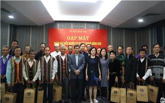 Gặp mặt Đoàn đại biểu Người có uy tín tỉnh Bình Phước