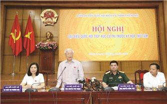 Tổng Bí thư, Chủ tịch nước Nguyễn Phú Trọng tiếp xúc cử tri TP. Hà Nội