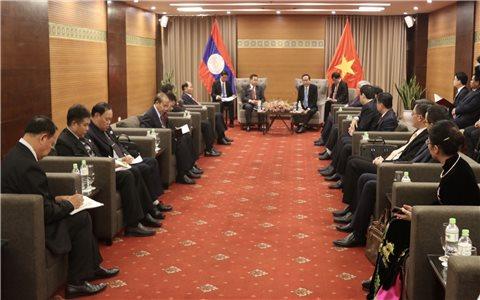 Trao đổi kinh nghiệm và Hội đàm về công tác dân tộc hai nước Việt Nam -Lào