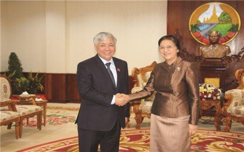 Hợp tác về lĩnh vực công tác dân tộc Việt Nam - Lào tiếp tục đi vào chiều sâu