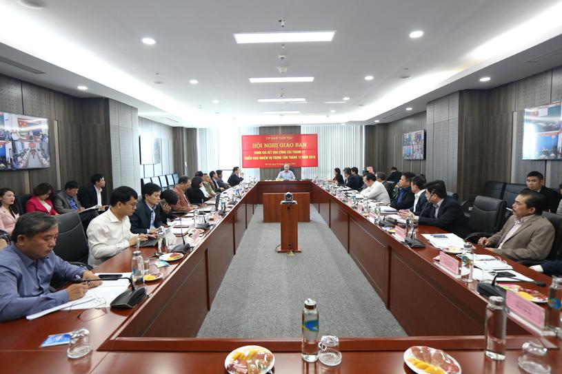 Ông Đỗ Văn Chiến, Ủy viên Trung ương Đảng, Bộ trưởng, Chủ nhiệm UBDT chủ trì Hội nghị