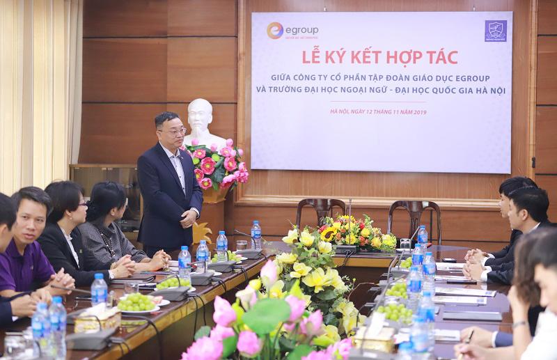 Ông Đỗ Tuấn Minh – Hiệu trưởng Trường Đại học Ngoại ngữ - Đại học Quốc gia Hà Nội chia sẻ về hoạt động đào tạo sinh viên của Trường