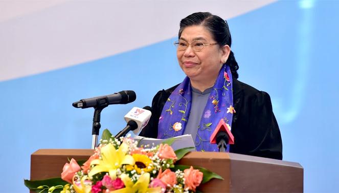 Phó Chủ tịch Thường trực Quốc hội Tòng Thị Phóng phát biểu chỉ đạo Hội nghị