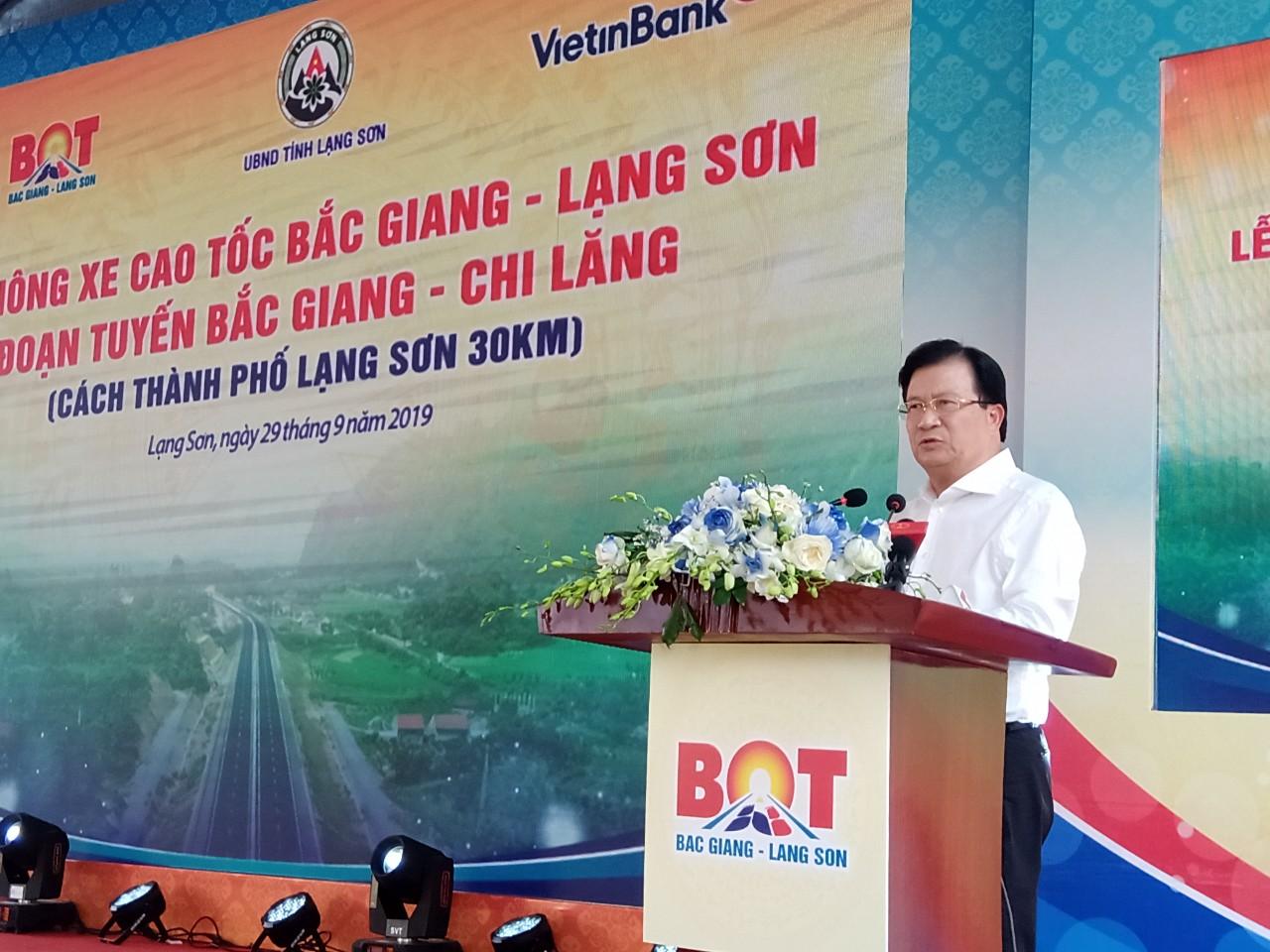 Phó Thủ tướng Trịnh Đình Dũng phát động tại Lễ thông xe.
