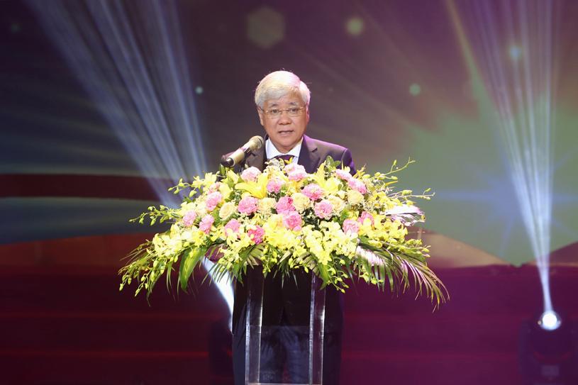 Bộ trưởng, Chủ nhiệm Ủy ban Dân tộc Đỗ Văn Chiến phát biểu tại Lễ Tuyên dương