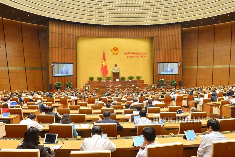 Các đại biểu Quốc hội trong phiên làm việc tại Hội trường