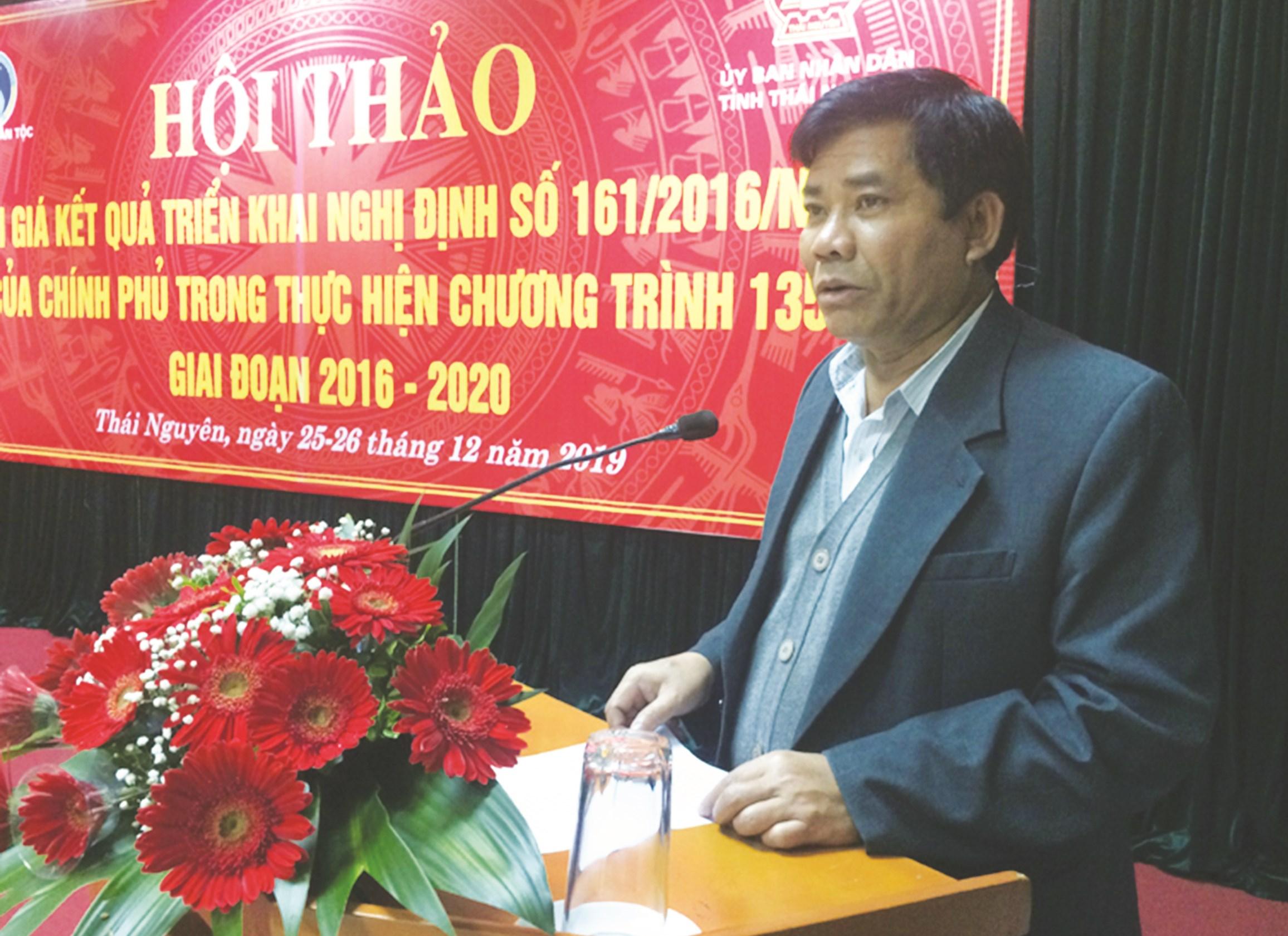 Thứ trưởng, Phó Chủ nhiệm Y Thông phát biểu tại Hội thảo