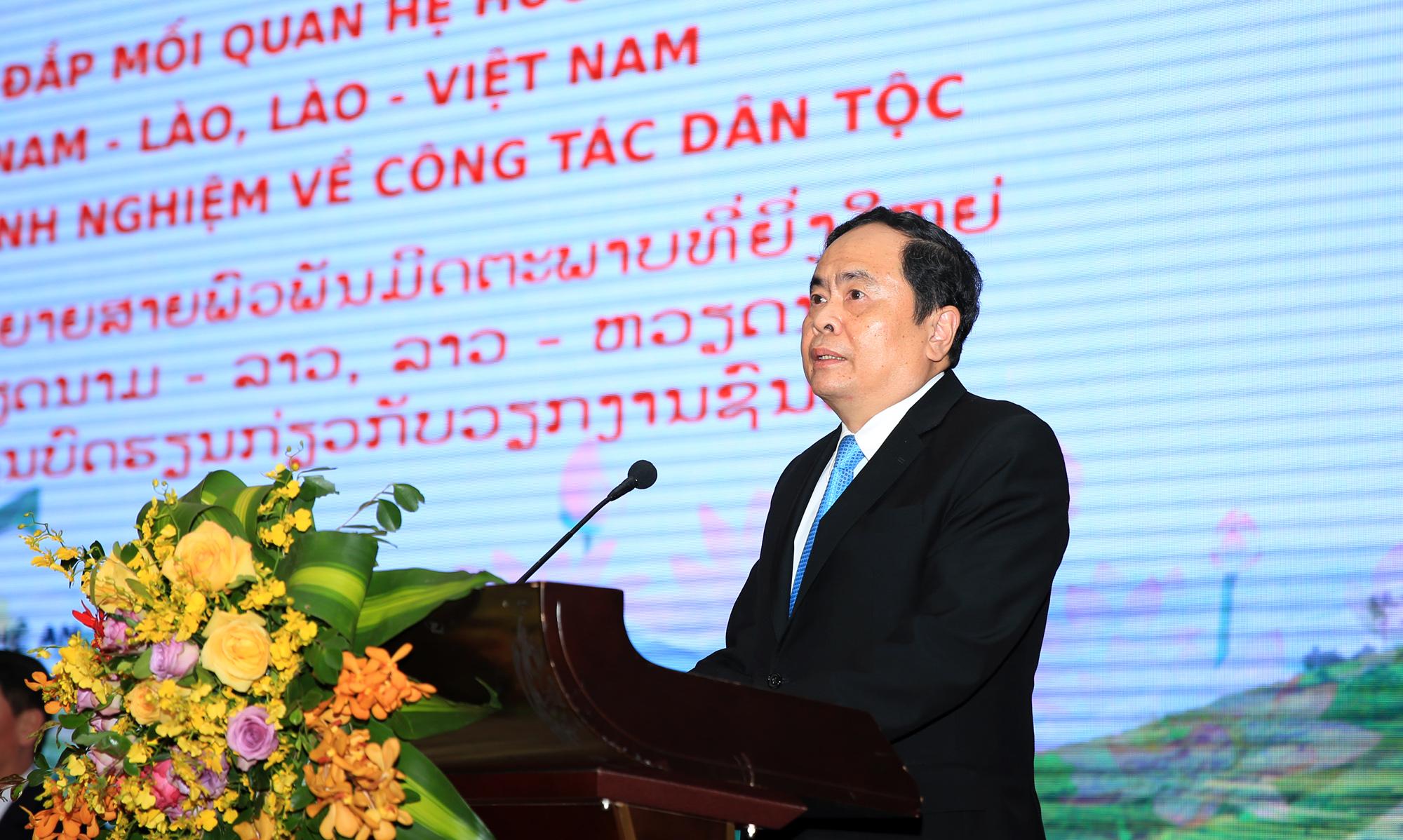 Đồng chí Trần Thanh Mẫn, Bí thư Trung ương Đảng, Chủ tịch Ủy ban MTTQ Việt Nam phát biểu bế mạc Hội thảo