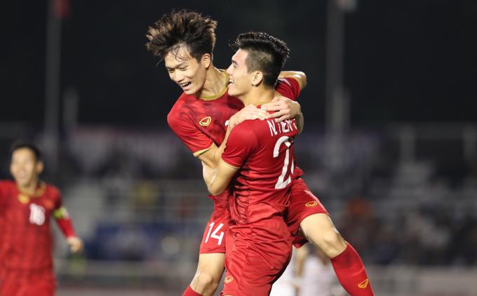U22 Việt Nam đã có một trận đấu dễ dàng trước U22 Campuchia (ảnh: vnexpress.net)