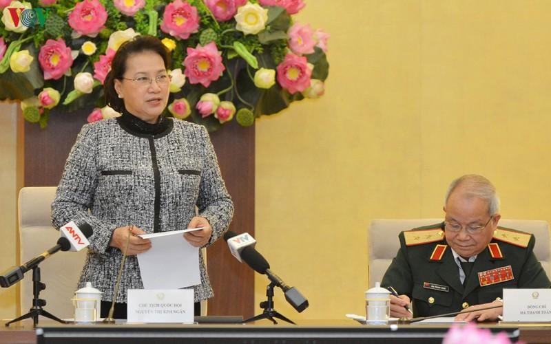 Chủ tịch Quốc hội phát biểu tại buổi gặp mặt