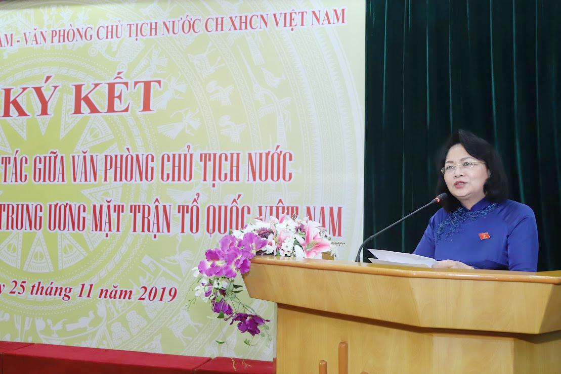 Phó Chủ tịch nước Đặng Thị Ngọc Thịnh phát biểu tại buổi lễ