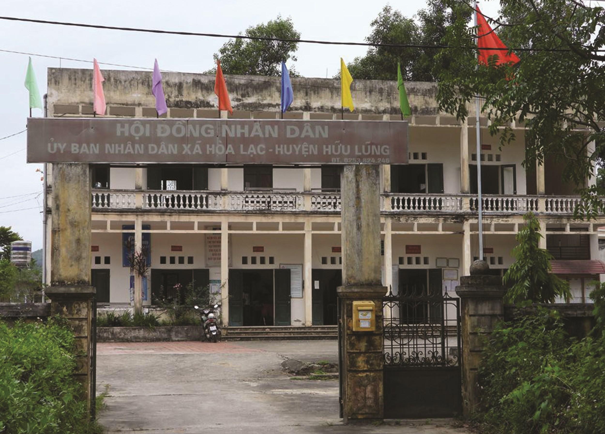 UBND xã Hòa Lạc, nơi xảy ra vụ việc