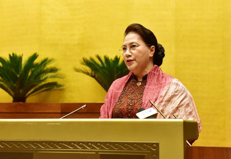 Chủ tịch Quốc hội Nguyễn Thị Kim Ngân phát biểu chỉ đạo tại Hội nghị