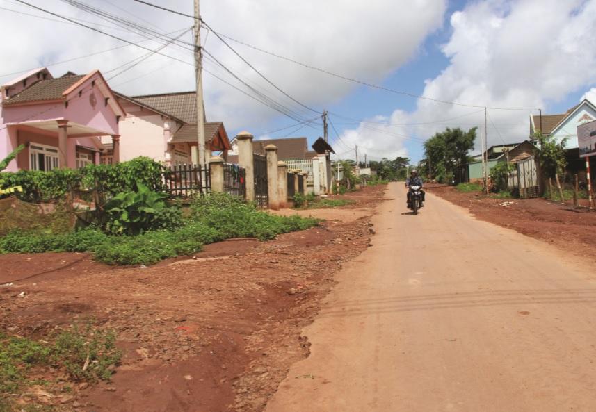 Khởi sắc khu tái định cư của đồng bào Ê-đê ở huyện Krông Buk.