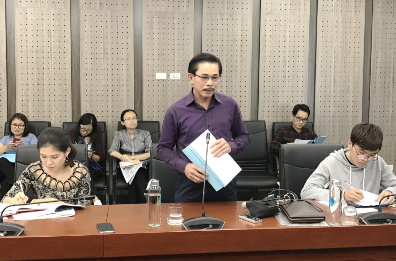 Ông Lê Công Bình, Phó Tổng Biên tập- Phụ trách Báo Dân tộc và Phát triển, Trưởng Ban Tổ chức Lễ Tuyên dương phát biểu tại buổi họp báo.