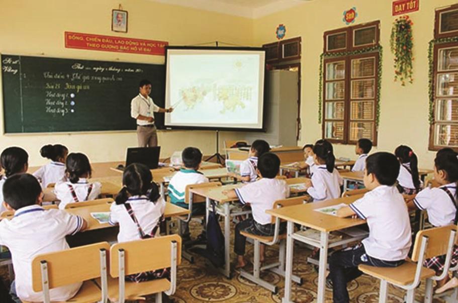 Một tiết học chuyên đề tăng cường tiếng Việt cho học sinh DTTS tại Trường Tiểu học và THCS Mường Bằng (Mai Sơn).