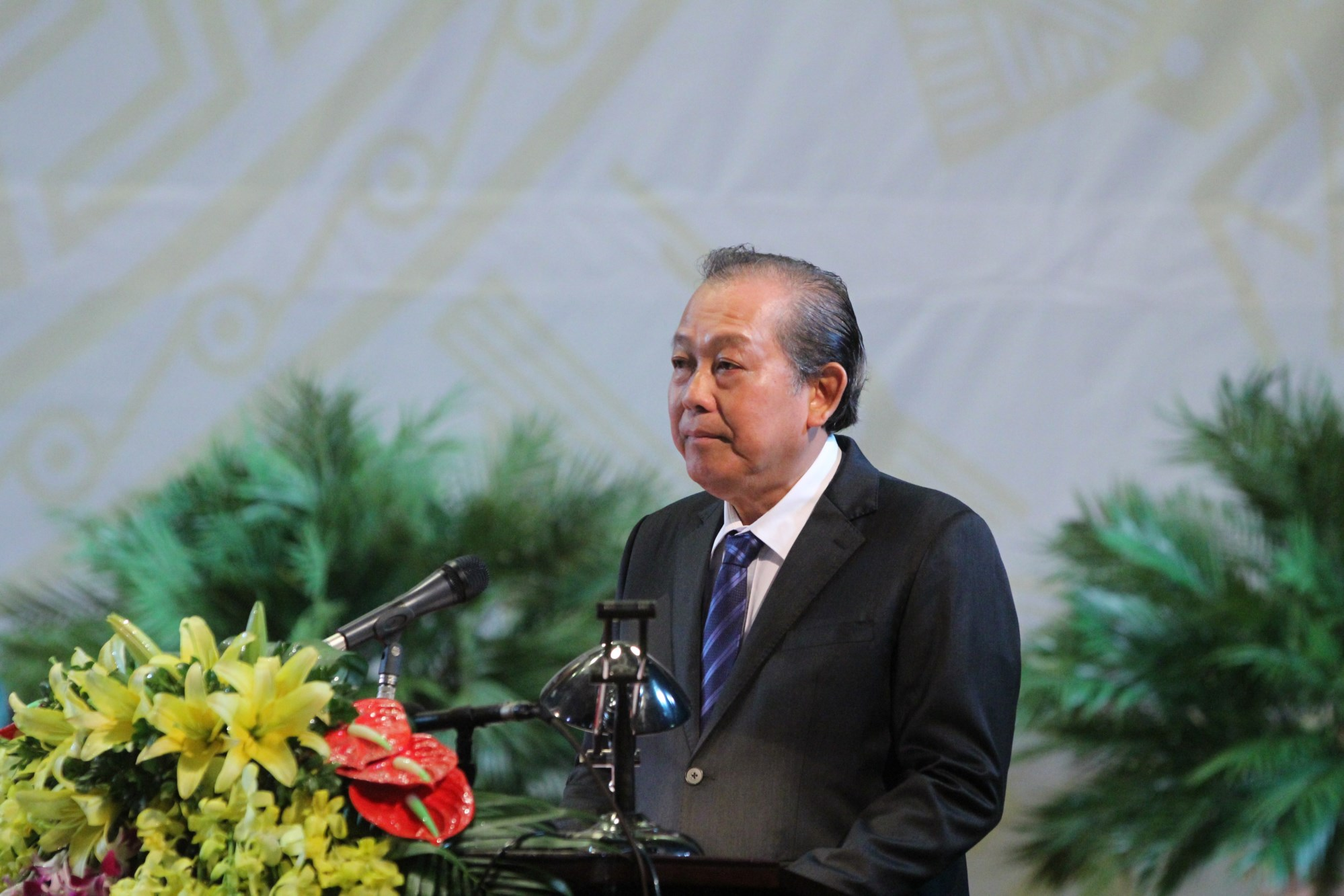 Phó Thủ tướng Thường trực Chính phủ Trương Hòa Bình phát biểu chỉ đạo Đại hội