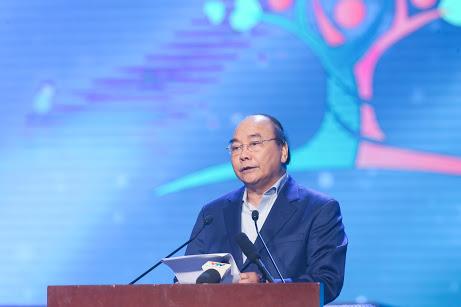 """Thủ tướng Chính phủ Nguyễn Xuân Phúc phát biểu tại chương trình """"Cả nước chung tay vì người nghèo"""" năm 2019."""