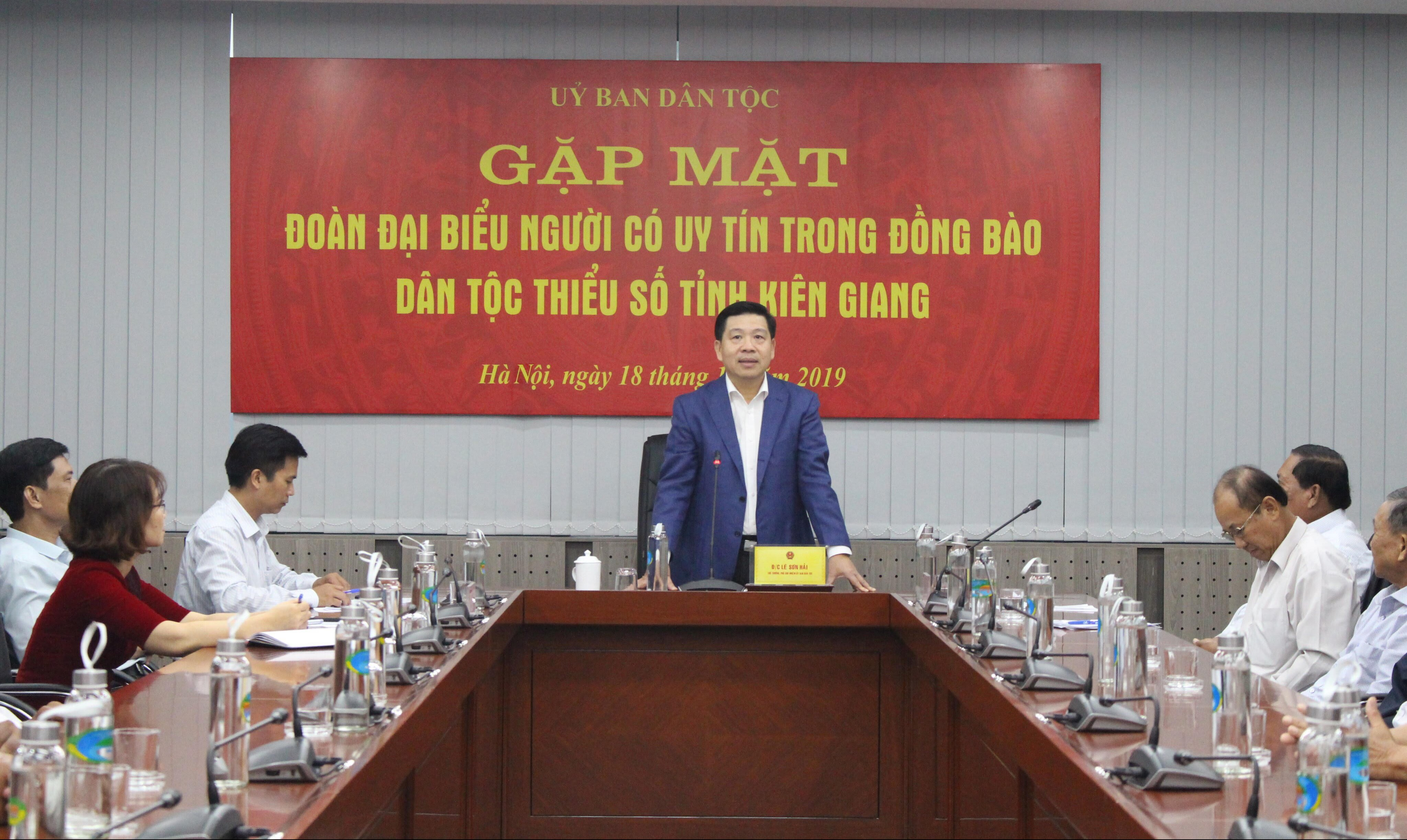 Thứ trưởng, Phó Chủ nhiệm UBDT Lê Sơn Hải chủ trì buổi gặp mặt