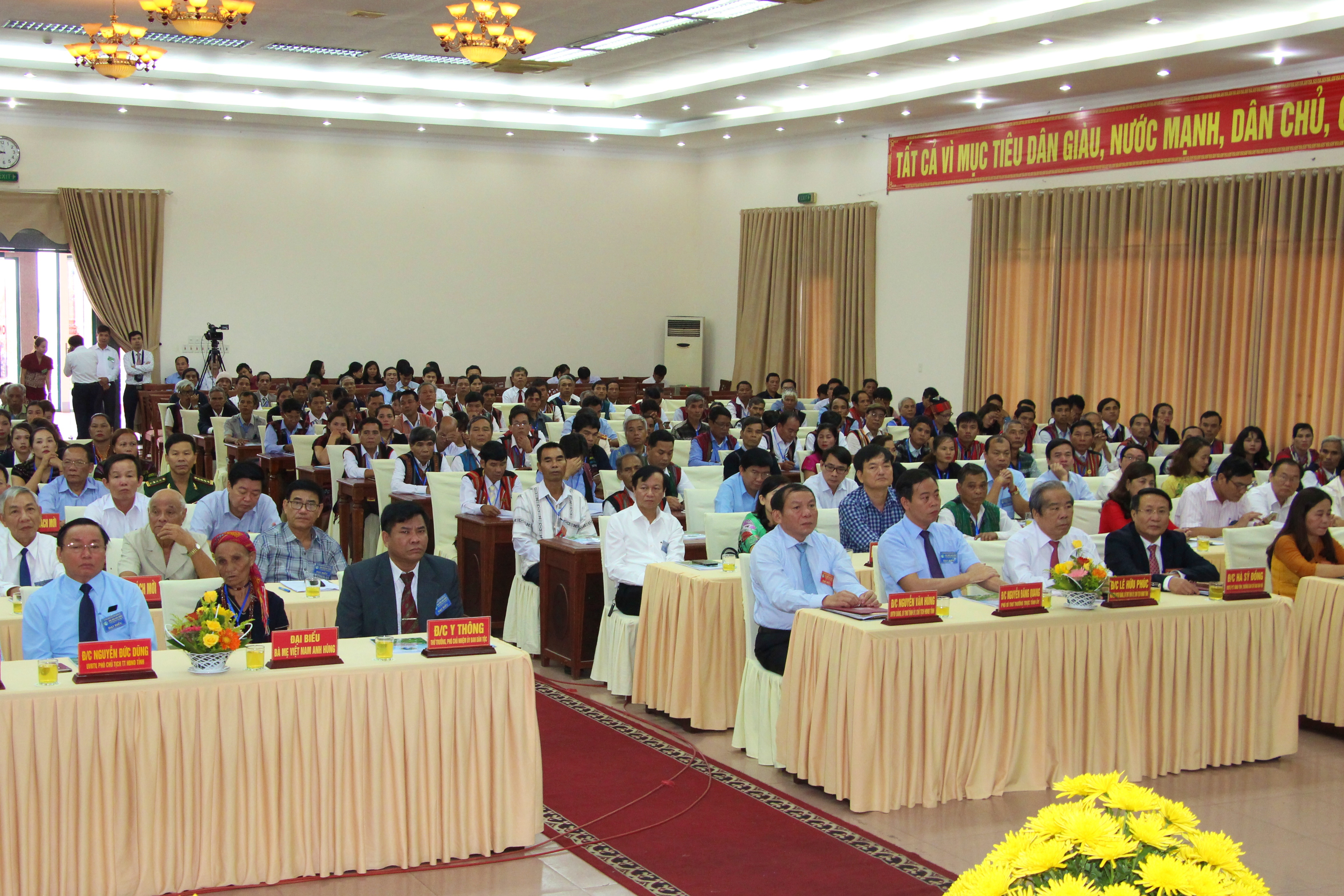 Các đại biểu tham dự Đại hội Đại biểu các dân tộc thiểu số tỉnh lần thứ III năm 2019
