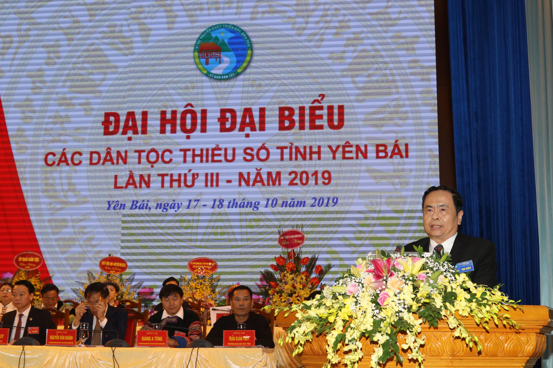 Chủ tịch Ủy Ban Trung ương MTTQ Việt Nam Trần Thanh Mẫn phát biểu tại Đại hội