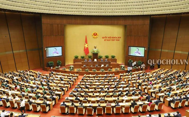 Toàn cảnh Phiên khai mạc Kỳ họp thứ 8 Quốc hội khoá XIV