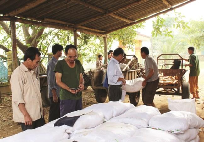 Thực hiện chính sách hỗ trợ muối ăn trực tiếp cho người dân xã Tân Lập, huyện Tân Lạc, tỉnh Hòa Bình. (Ảnh tư liệu)