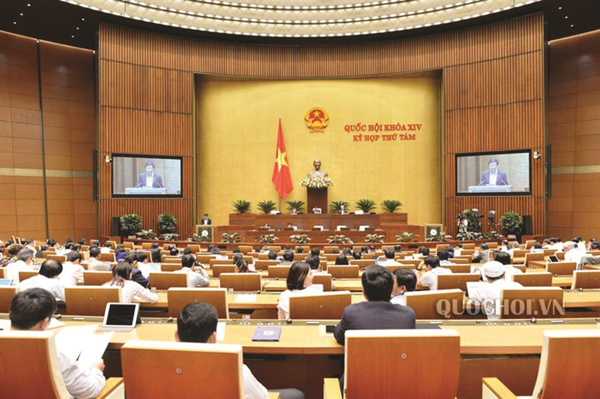 Toàn cảnh kỳ họp thứ 8, Quốc hội khóa XIV.