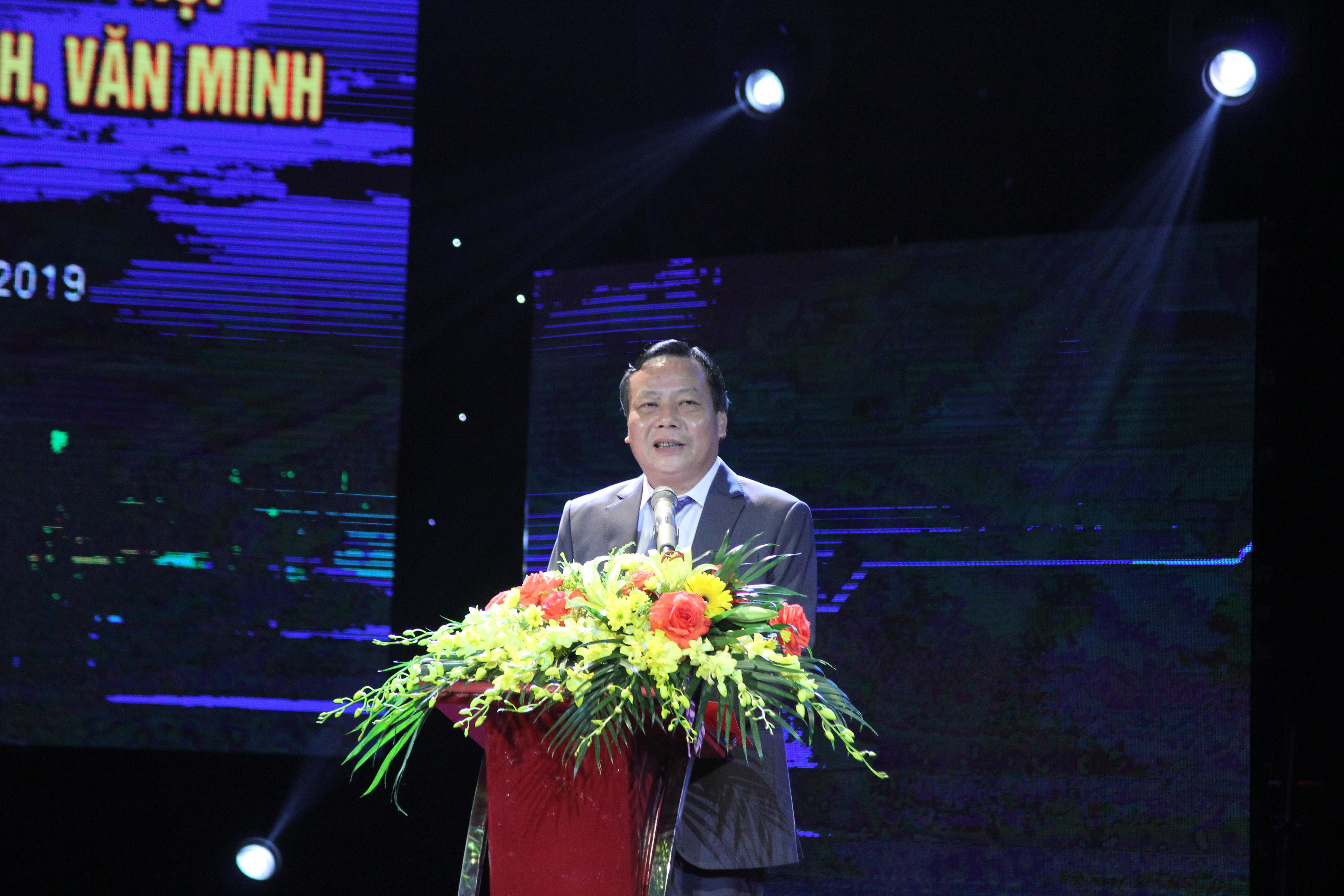 Ông Nguyễn Văn Phong, Trưởng Ban tuyên Tuyên giáo Thành ủy Hà Nội, phát biểu tại buổi Lễ trao giải.