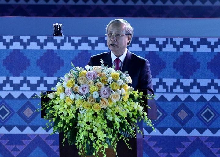 Ủy viên Bộ Chính trị, Thường trực Ban Bí thư Trung ương Đảng Trần Quốc Vượng phát biểu tại Lễ kỷ niệm