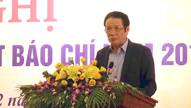 Thứ trưởng Bộ Thông tin và Truyền thông Hoàng Vĩnh Bảo phát biểu tại Hội nghị