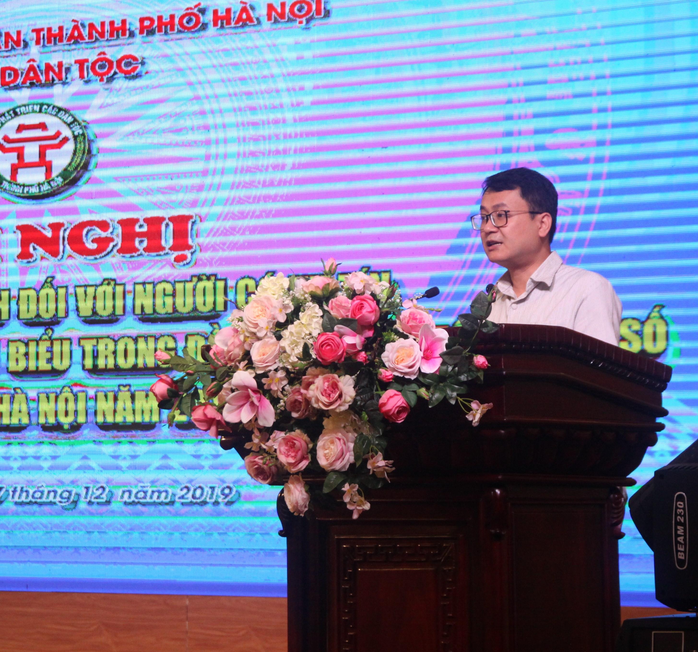 Thừa ủy quyền của lãnh đạo Ủy ban Dân tộc, ông Hà Việt Quân, Quyền vụ trưởng vụ Hợp tác quốc tế, Ủy ban Dân tộc phát biểu tại Hội nghị