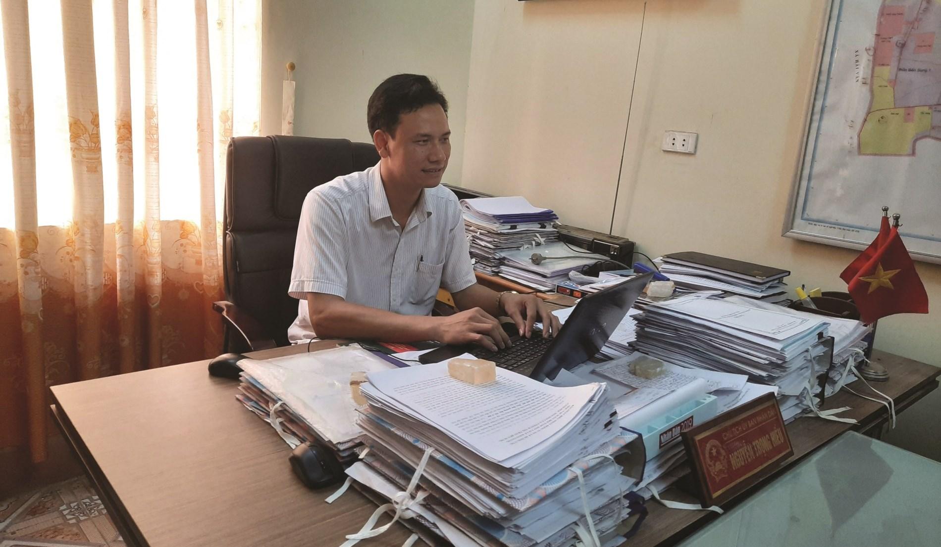 Ông Nguyễn Trọng Hiếu, Chủ tịch UBND thị trấn Bến Sung, huyện Như Thanh: Vai trò giám sát của người dân trong công tác PCTN ở cơ sở vô cùng quan trọng.