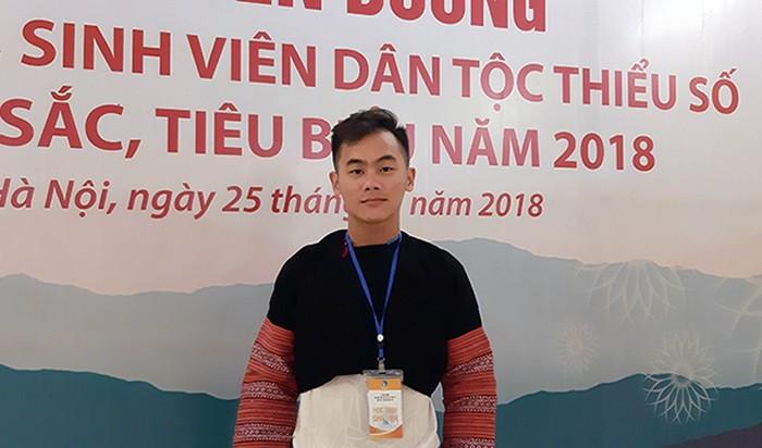 Tráng Seo Ché tại Lễ Tuyên dương học sinh,sinh viên DTTS xuất sắc năm 2018
