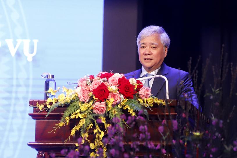 Bộ trưởng, Chủ nhiệm UBDT Đỗ Văn Chiến phát biểu tại buổi Lễ