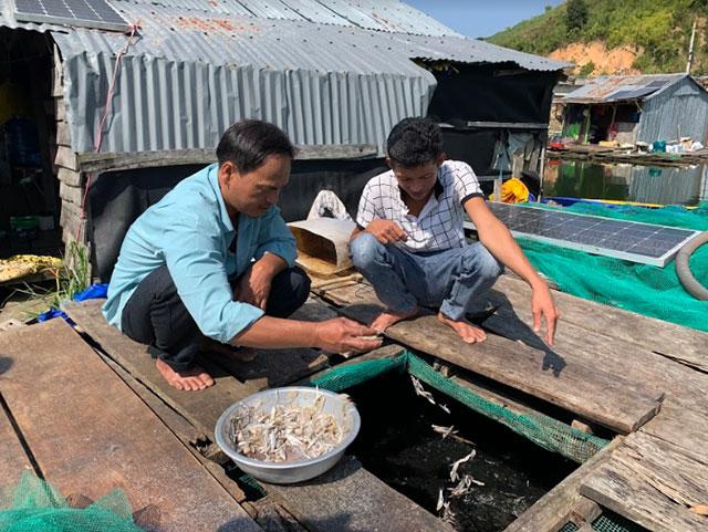 Những hộ dân ở làng chài này chủ yếu làm nghề nuôi cá lóc và đánh bắt cá trên lòng hồ thủy điện Buôn Tua Sarh để sinh sống.