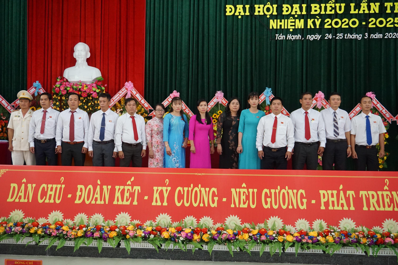 Ban Chấp hàng Đảng bộ xã Tân Hạnh nhiệm kỳ nhiệm kỳ mới ra mắt Đại hội